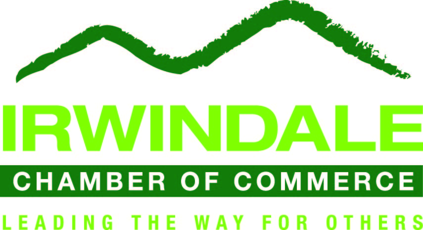 logo for irwindale chamber of commerce leading the way for others