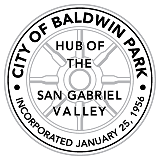 logo for city of baldwin park hub of the san gabriel valley