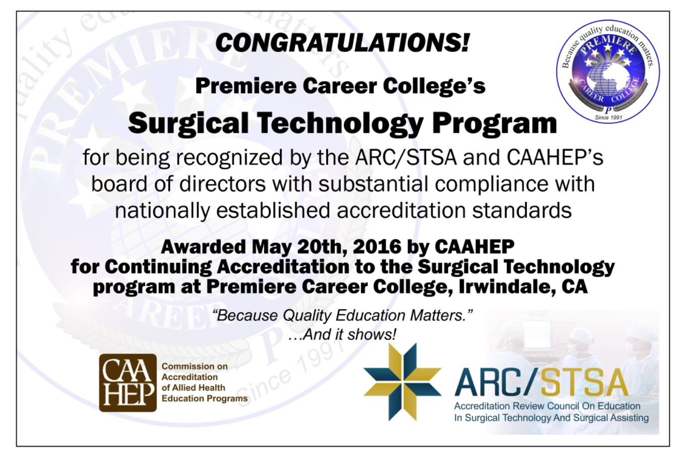 Premiere Career College Over 24 Years Of Quality Education